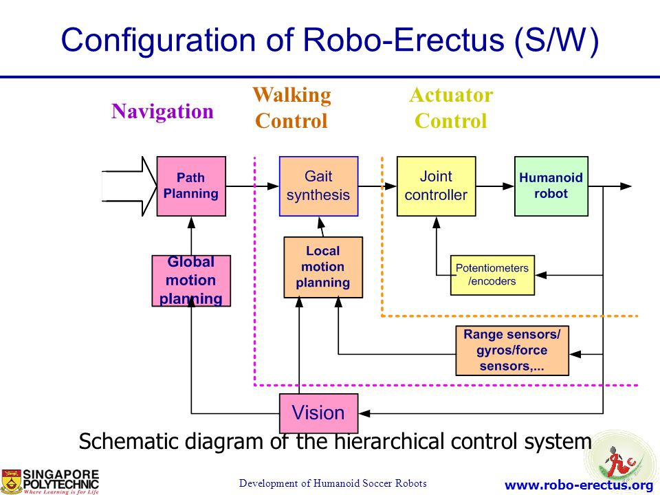 Configuration of Robo-Erectus (S/W)