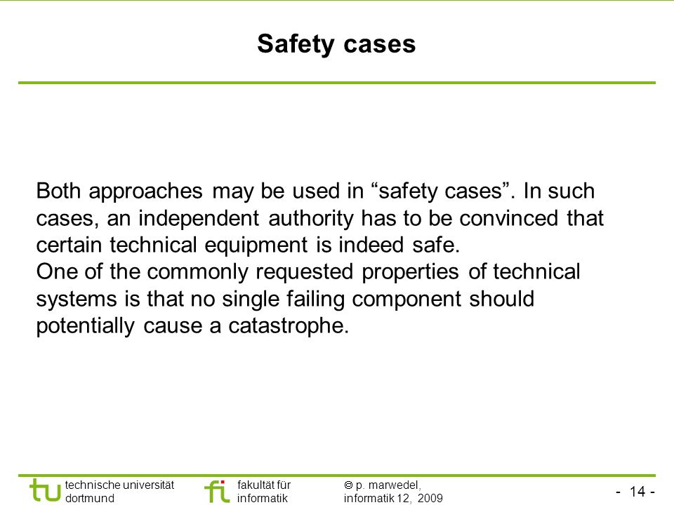 Safety cases