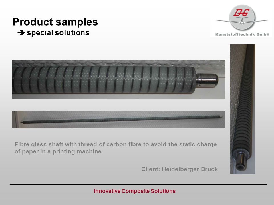Product samples  special solutions