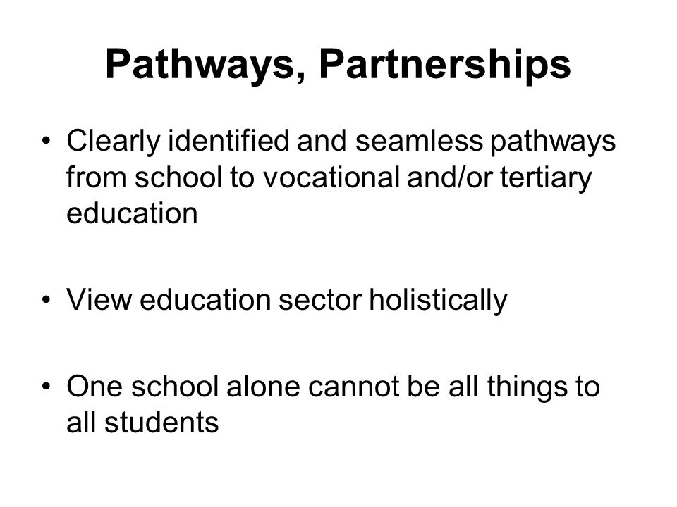 Pathways, Partnerships