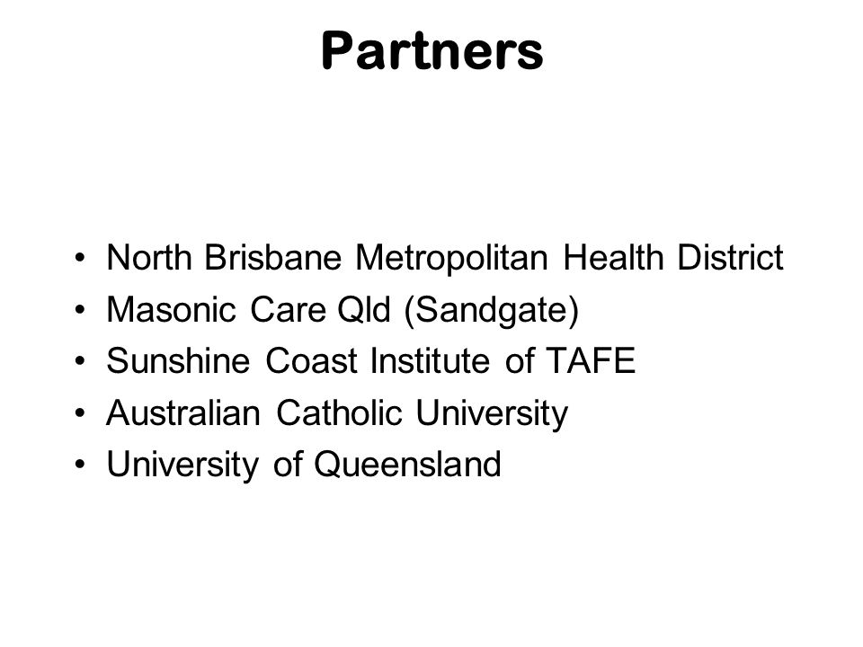 Partners North Brisbane Metropolitan Health District