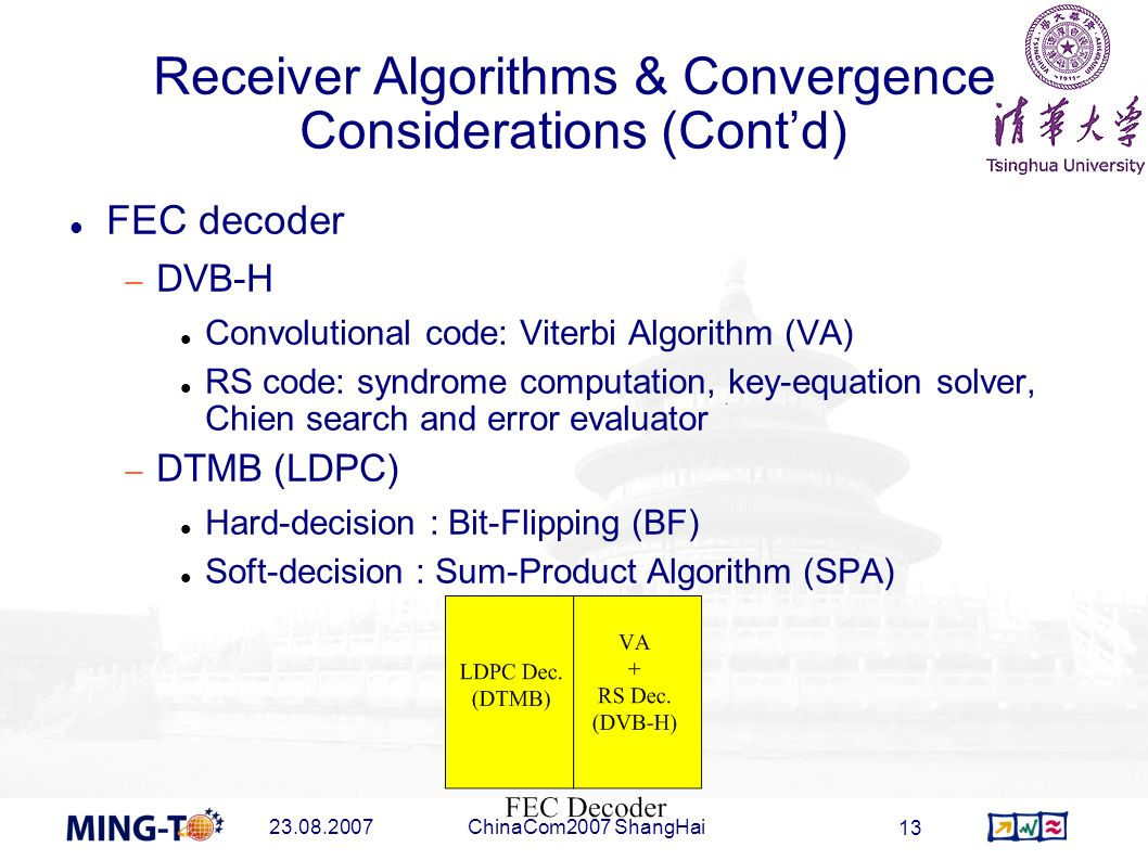 Receiver Algorithms & Convergence Considerations (Cont'd)