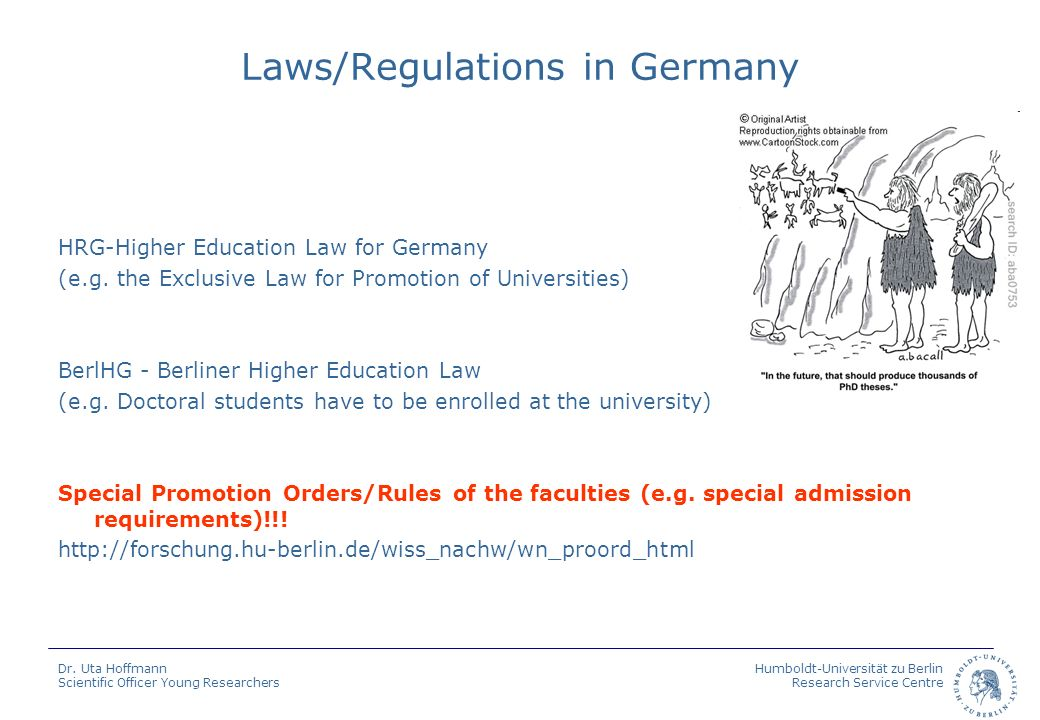 Laws/Regulations in Germany