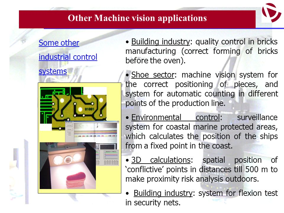 Other Machine vision applications