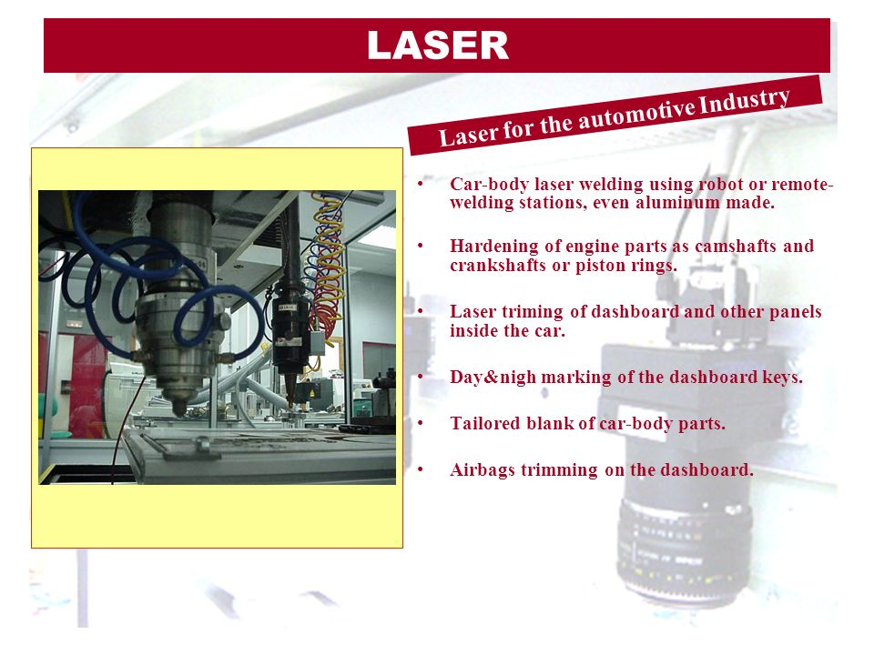 Laser for the automotive Industry