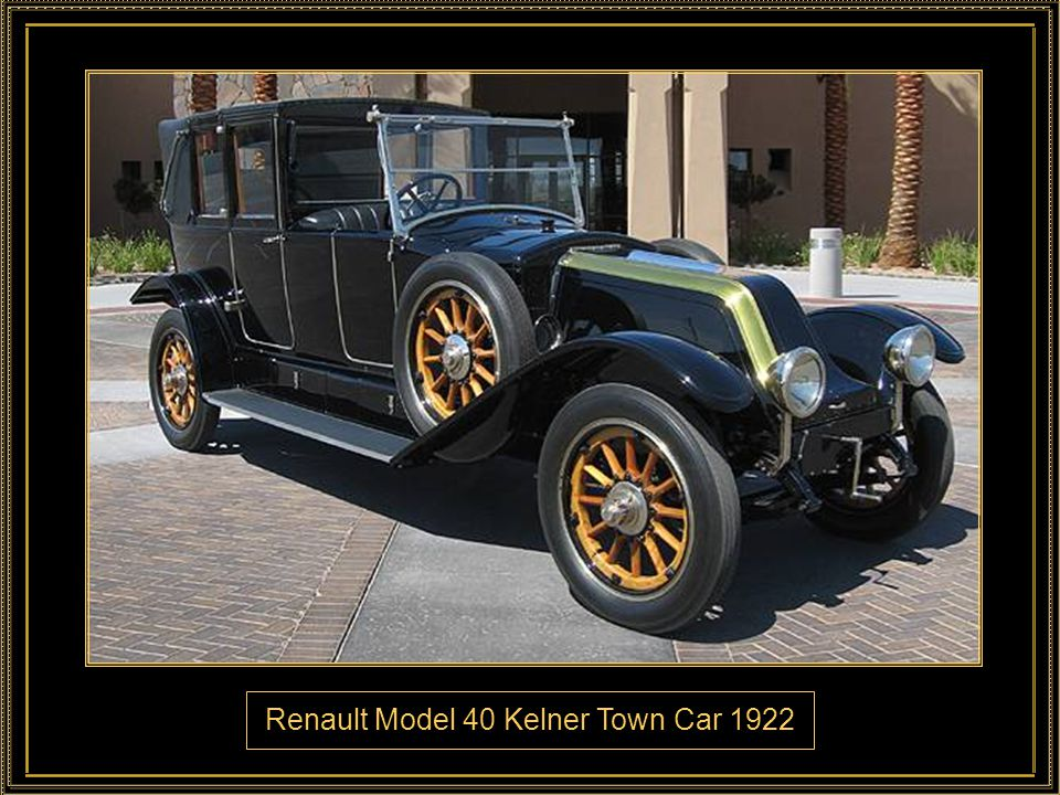 Renault Model 40 Kelner Town Car 1922