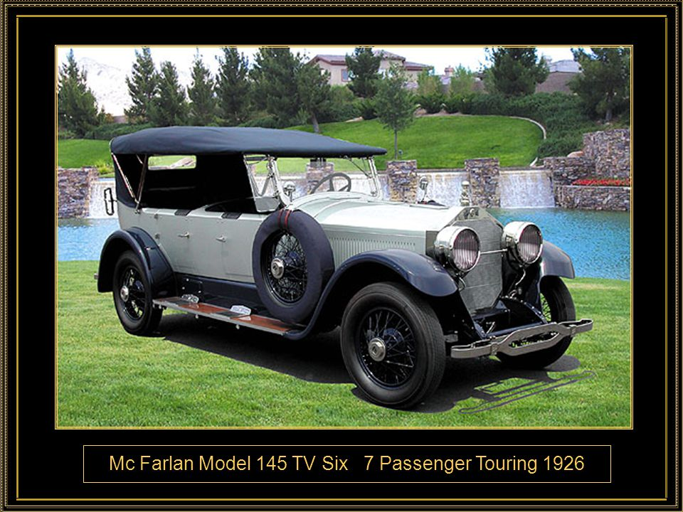 Mc Farlan Model 145 TV Six 7 Passenger Touring 1926