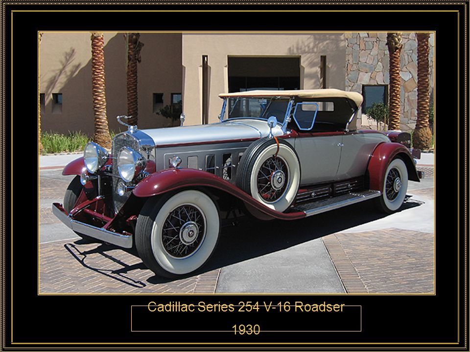 Cadillac Series 254 V-16 Roadser 1930