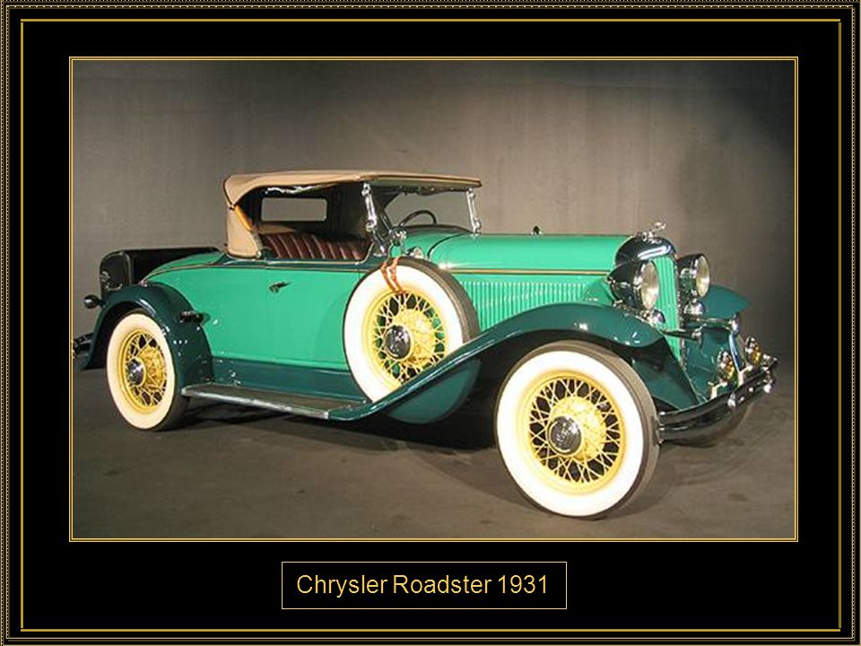 Chrysler Roadster 1931
