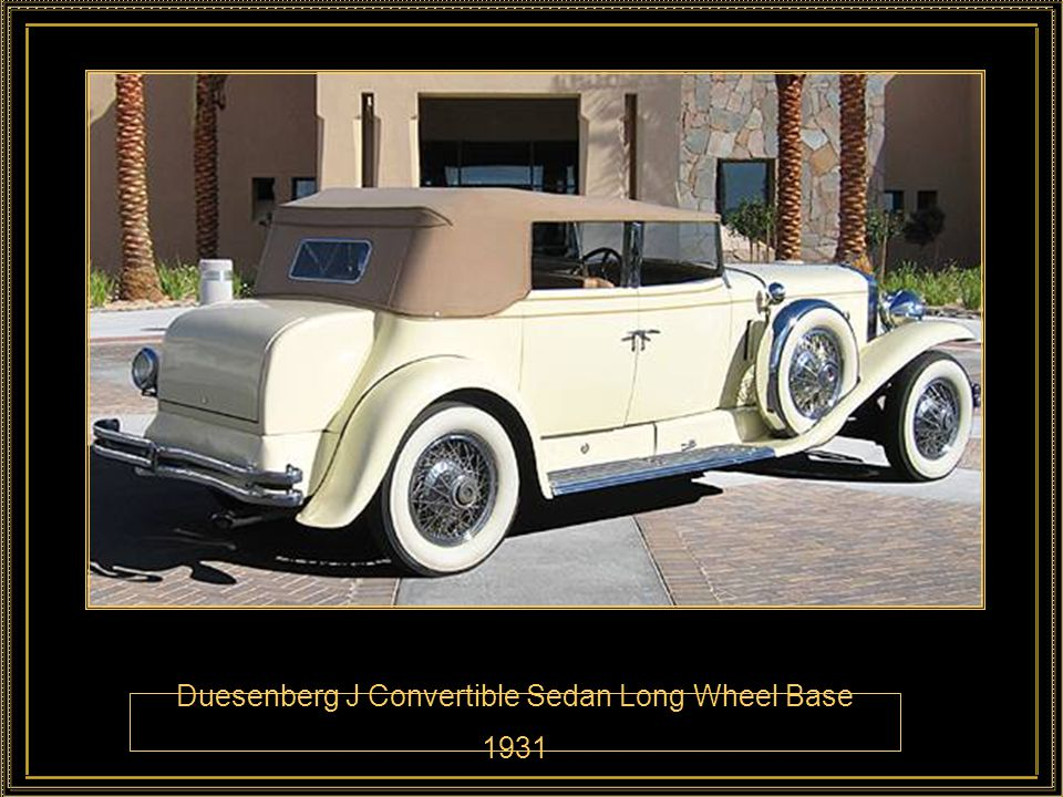 Duesenberg J Convertible Sedan Long Wheel Base 1931
