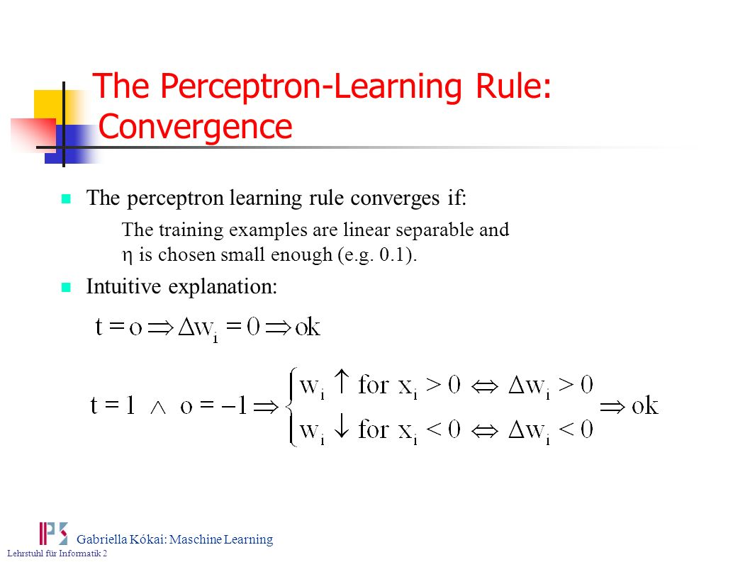 The Perceptron-Learning Rule: Convergence