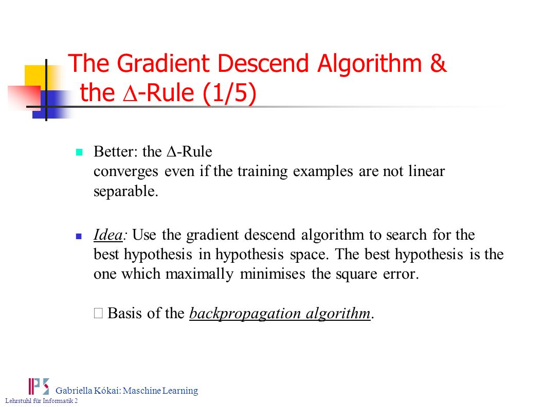 The Gradient Descend Algorithm & the D-Rule (1/5)