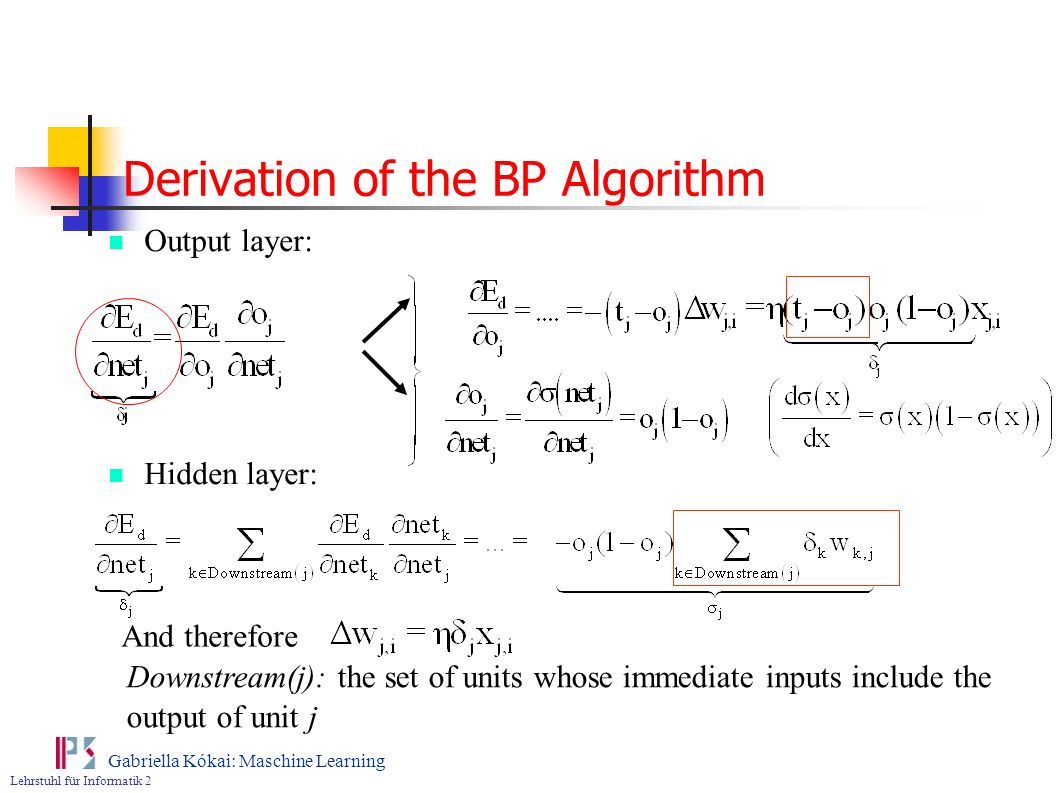 Derivation of the BP Algorithm