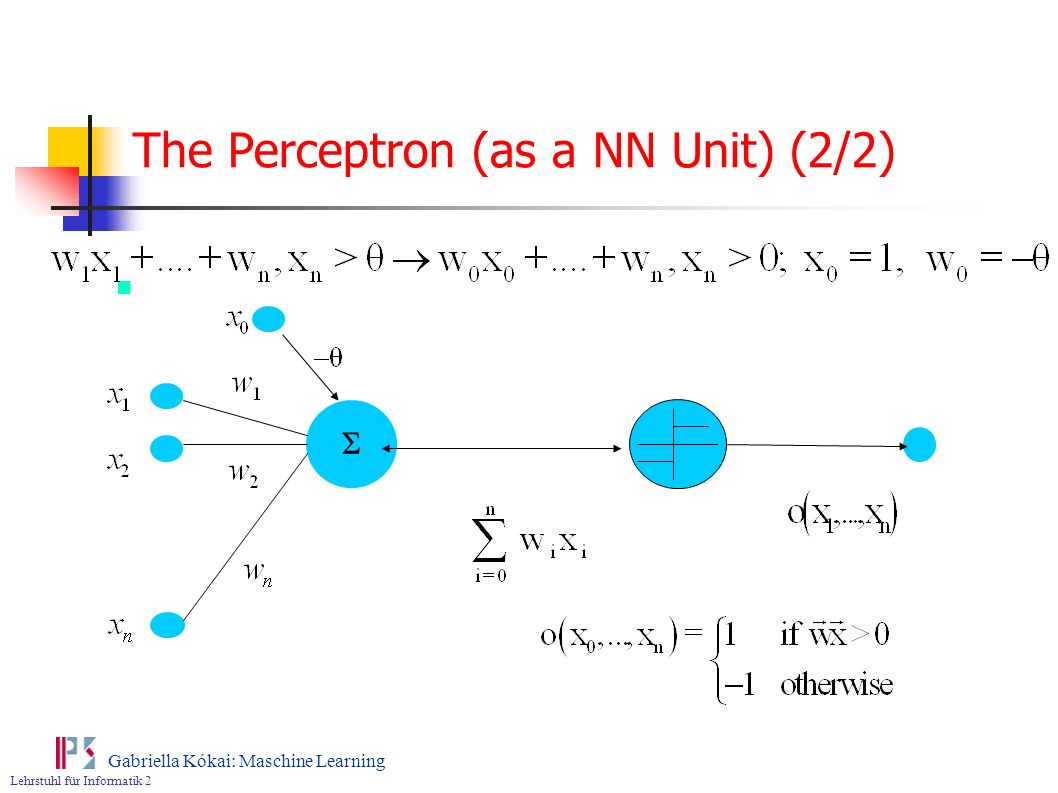 The Perceptron (as a NN Unit) (2/2)