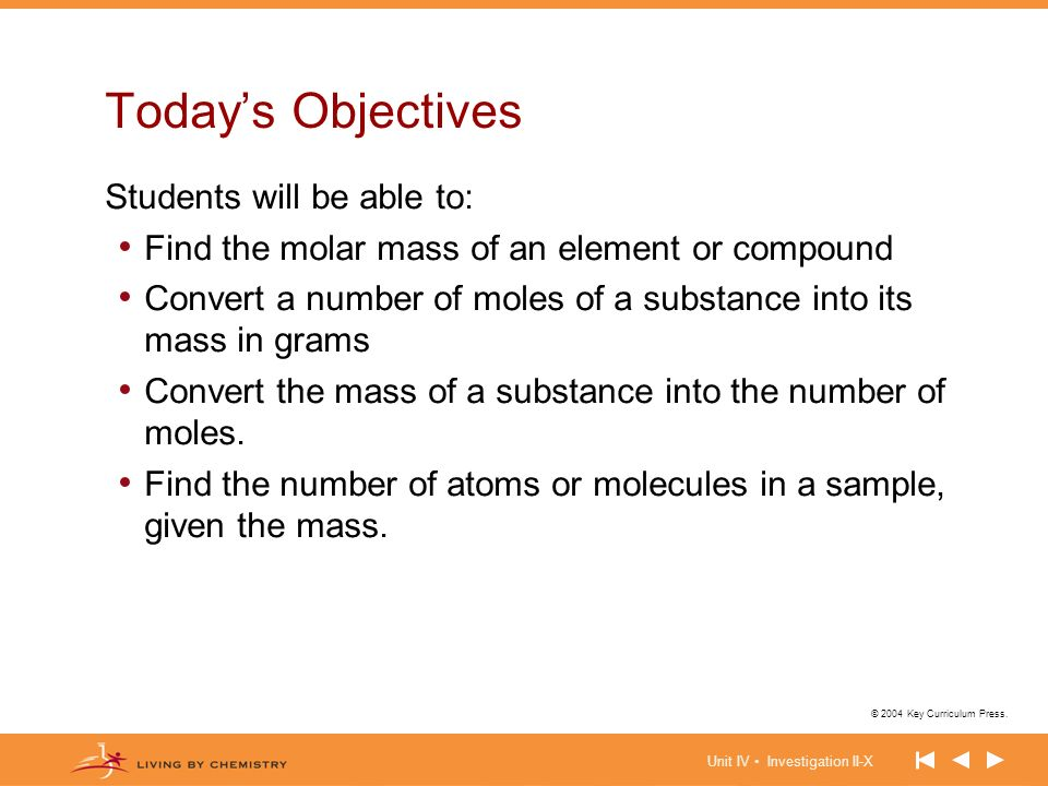 Today's Objectives Students will be able to: