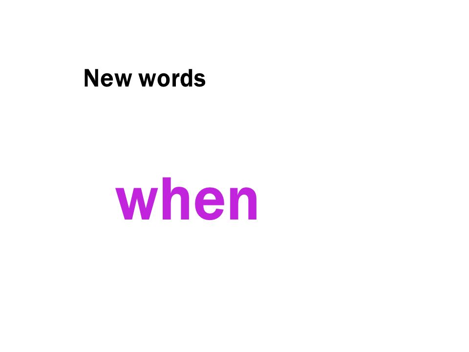 New words when