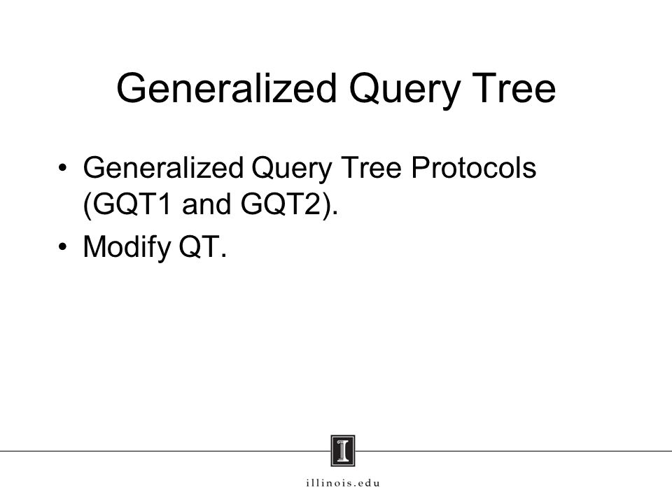 Generalized Query Tree