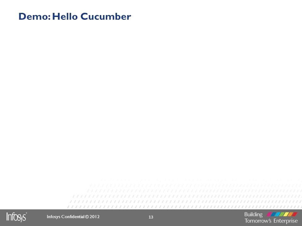 Demo: Hello Cucumber