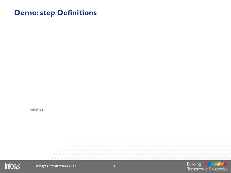 Demo: step Definitions