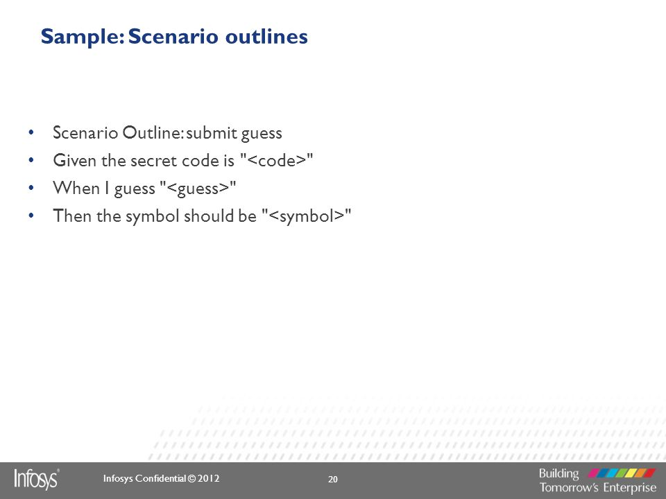 Sample: Scenario outlines