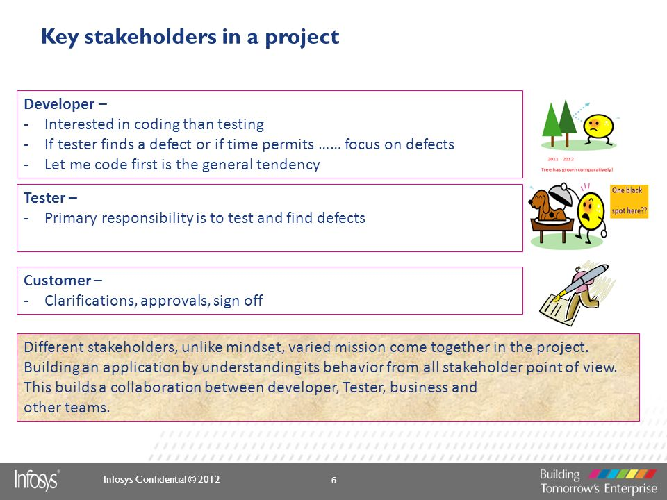 Key stakeholders in a project