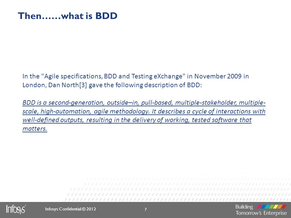 Then……what is BDD