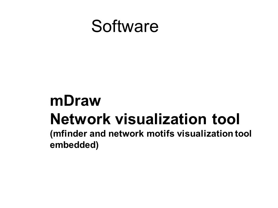 Software mDraw Network visualization tool
