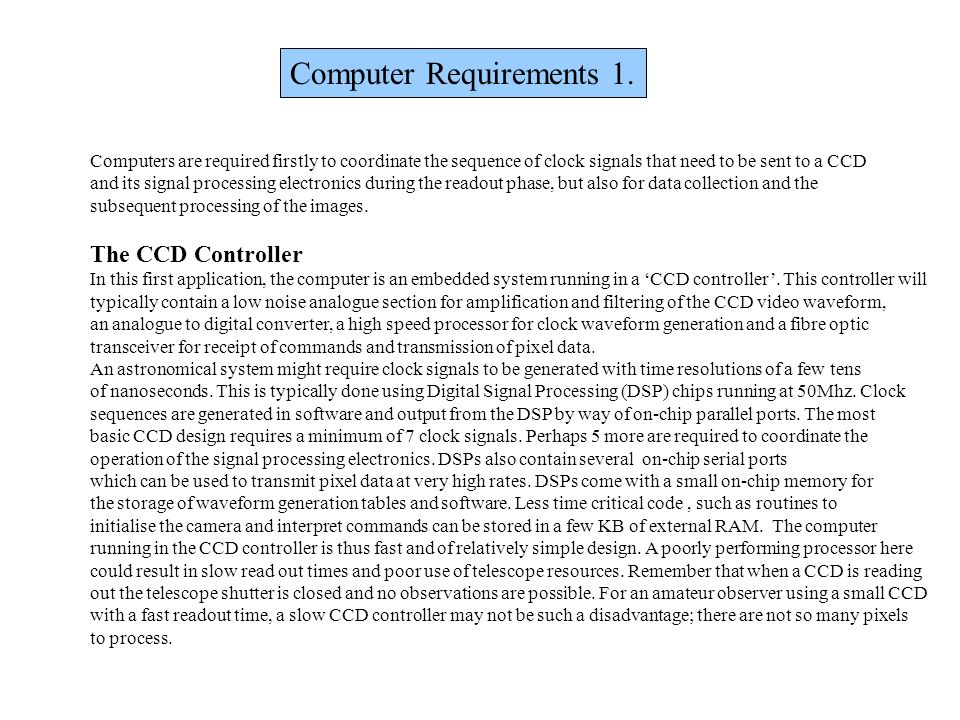 Computer Requirements 1.