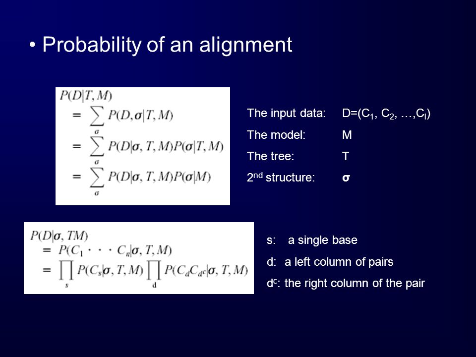 Probability of an alignment