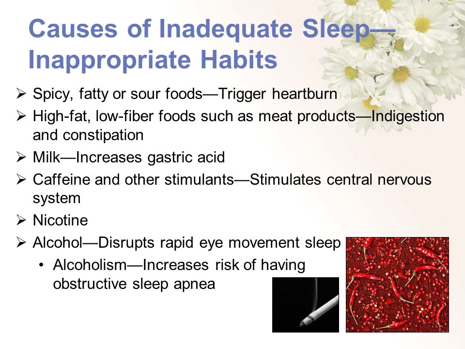 Causes of Inadequate Sleep—Inappropriate Habits