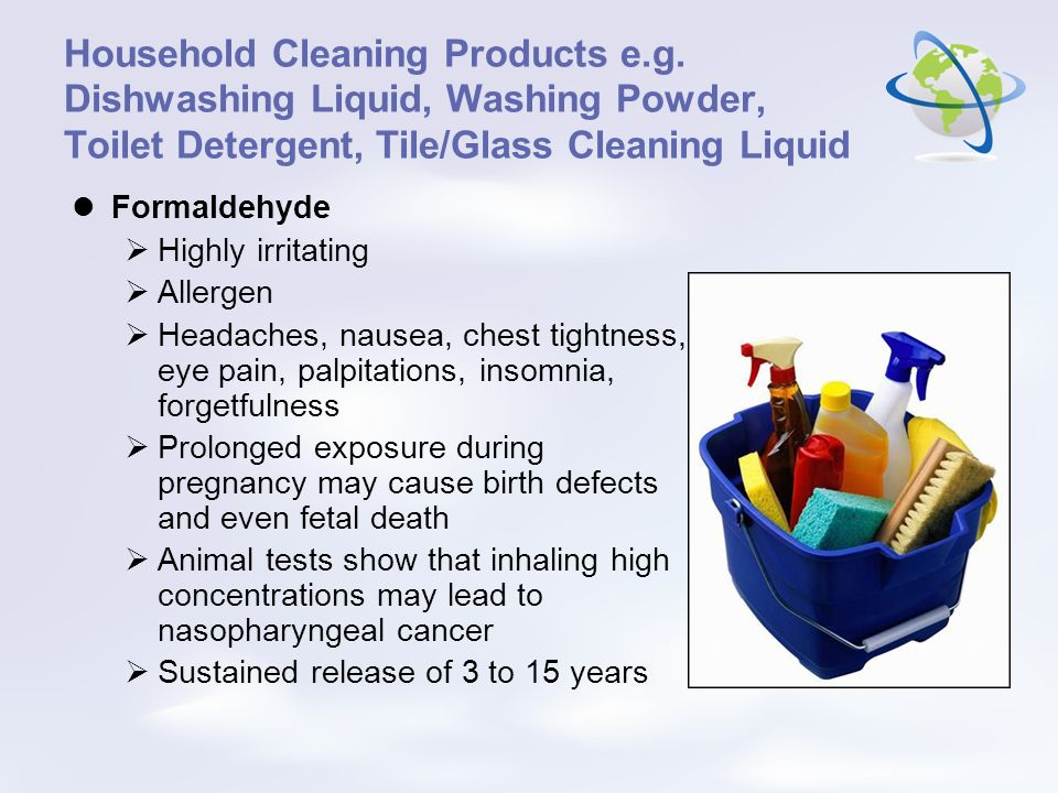 Household Cleaning Products e. g