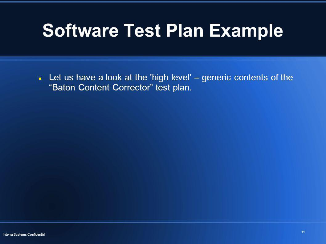 Software Test Plan Example