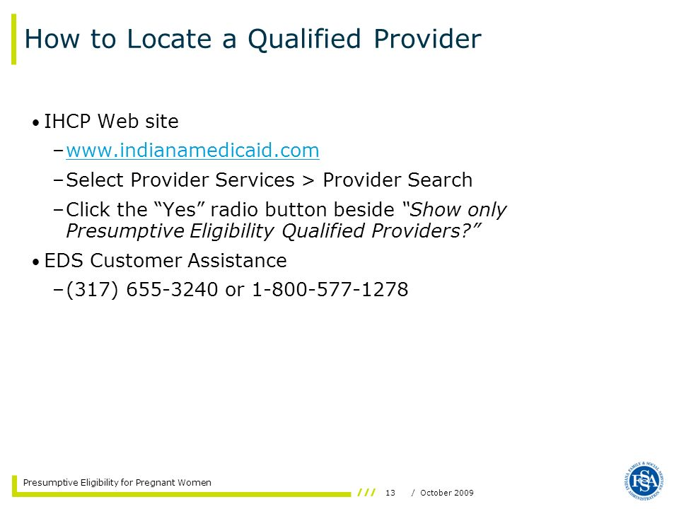 How to Locate a Qualified Provider