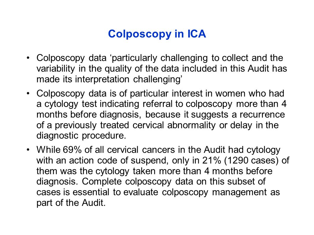 Colposcopy in ICA