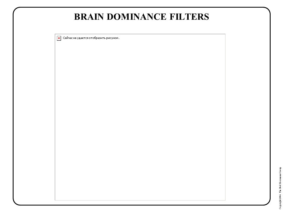 BRAIN DOMINANCE FILTERS