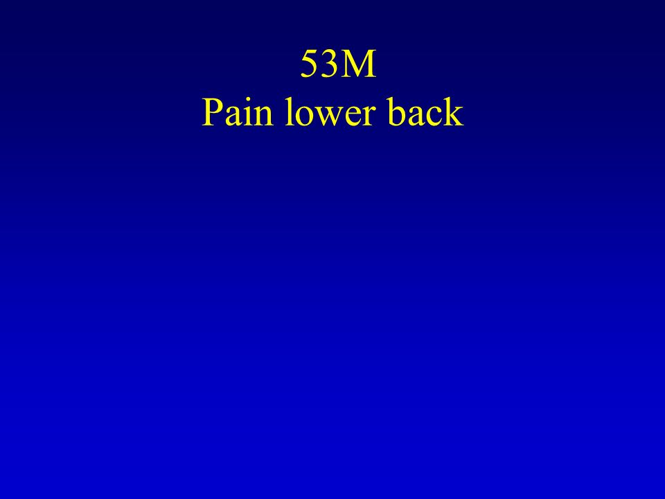 53M Pain lower back