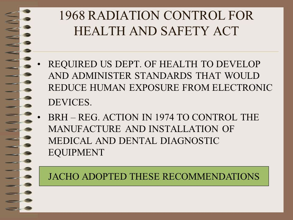 1968 RADIATION CONTROL FOR HEALTH AND SAFETY ACT