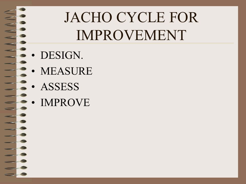 JACHO CYCLE FOR IMPROVEMENT