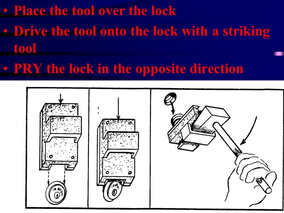 Place the tool over the lock