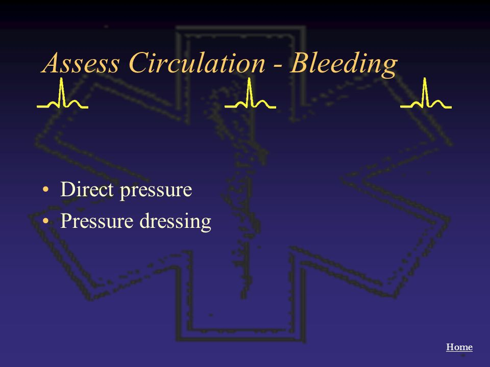 Assess Circulation - Bleeding