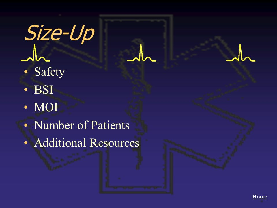Size-Up Safety BSI MOI Number of Patients Additional Resources