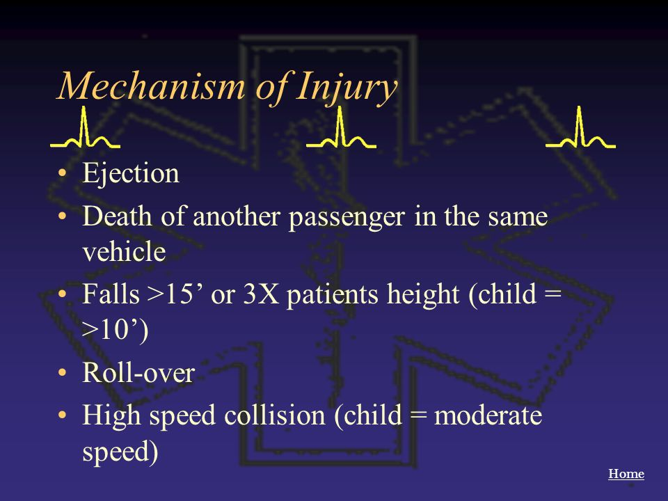 Mechanism of Injury Ejection
