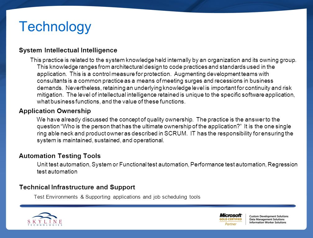 Technology System Intellectual Intelligence Application Ownership