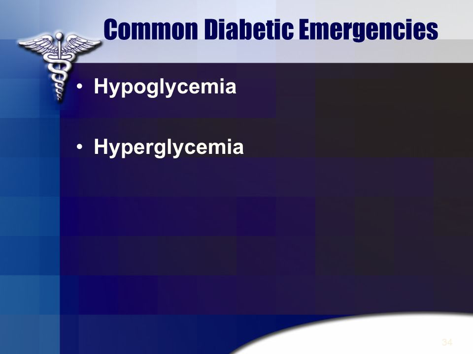 Common Diabetic Emergencies
