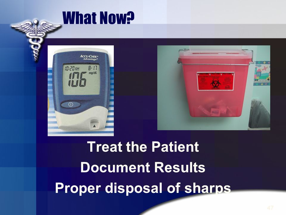 Proper disposal of sharps