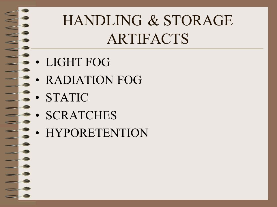 HANDLING & STORAGE ARTIFACTS