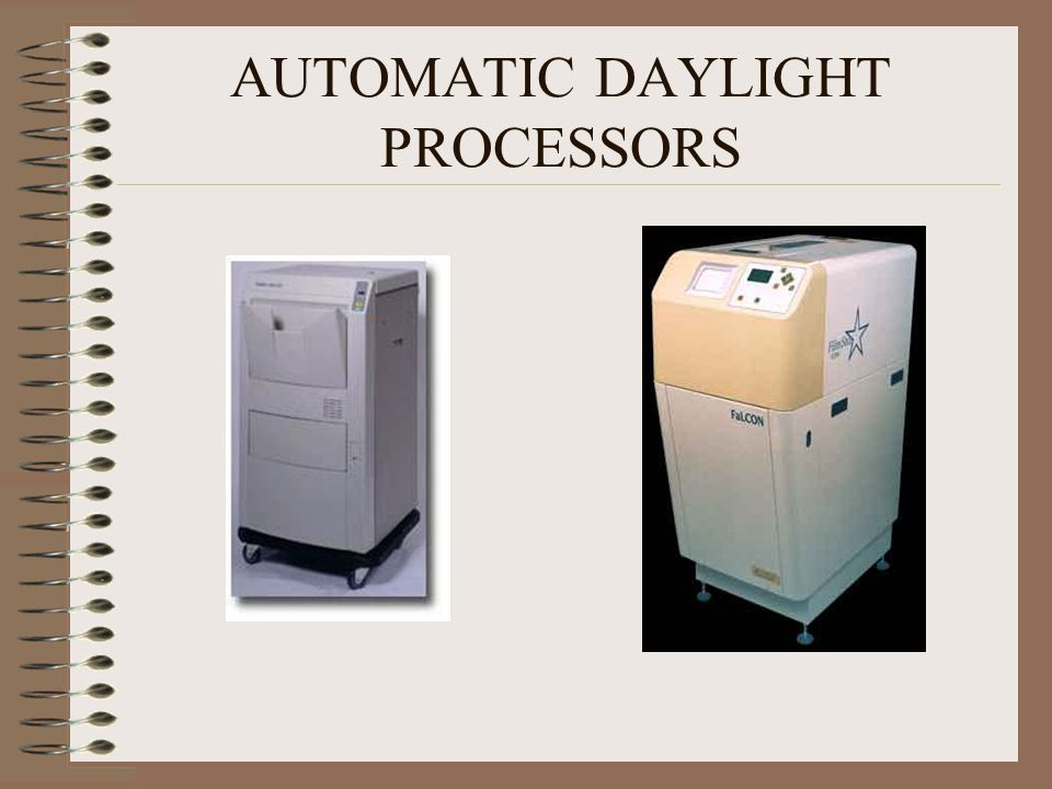 AUTOMATIC DAYLIGHT PROCESSORS