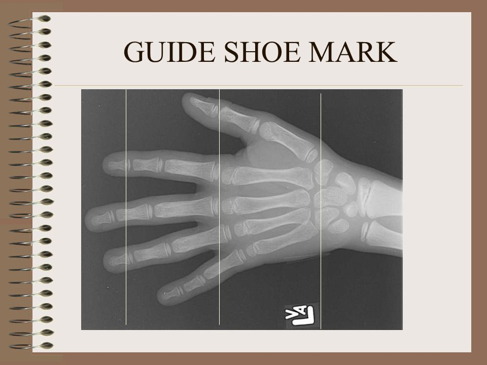 GUIDE SHOE MARK