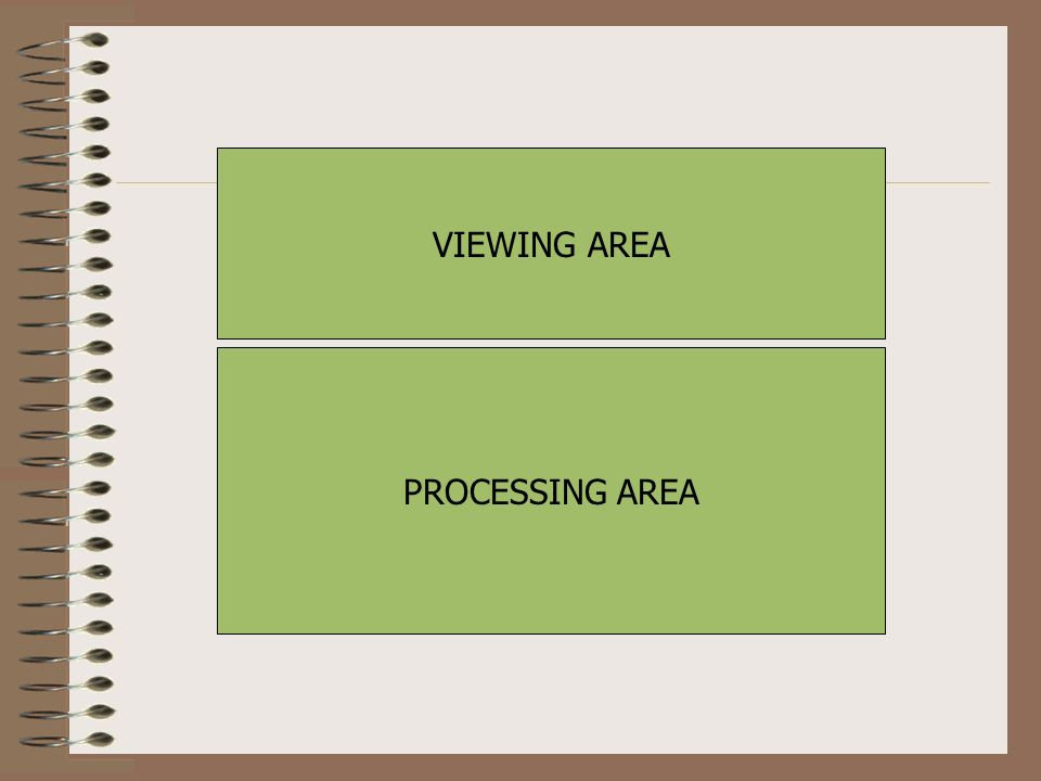 VIEWING AREA PROCESSING AREA