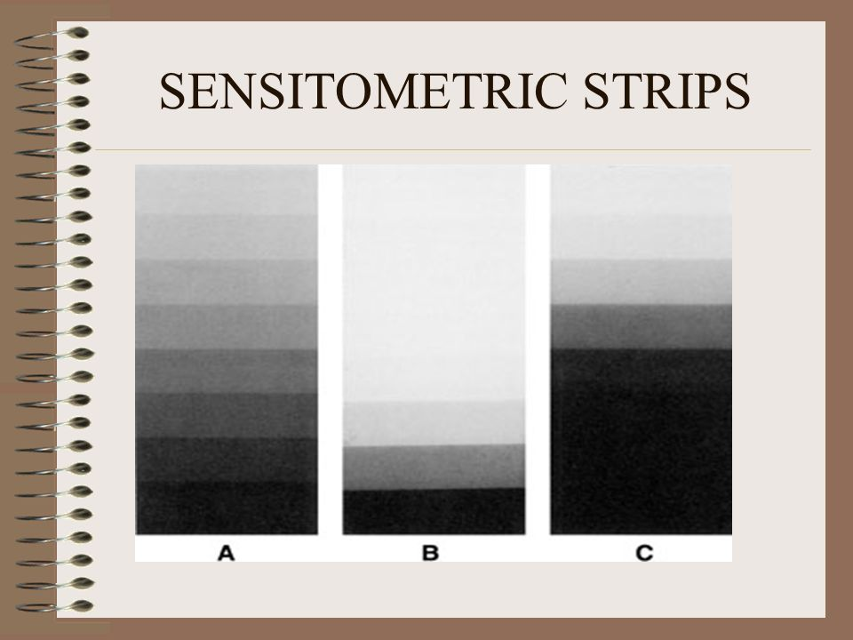 SENSITOMETRIC STRIPS